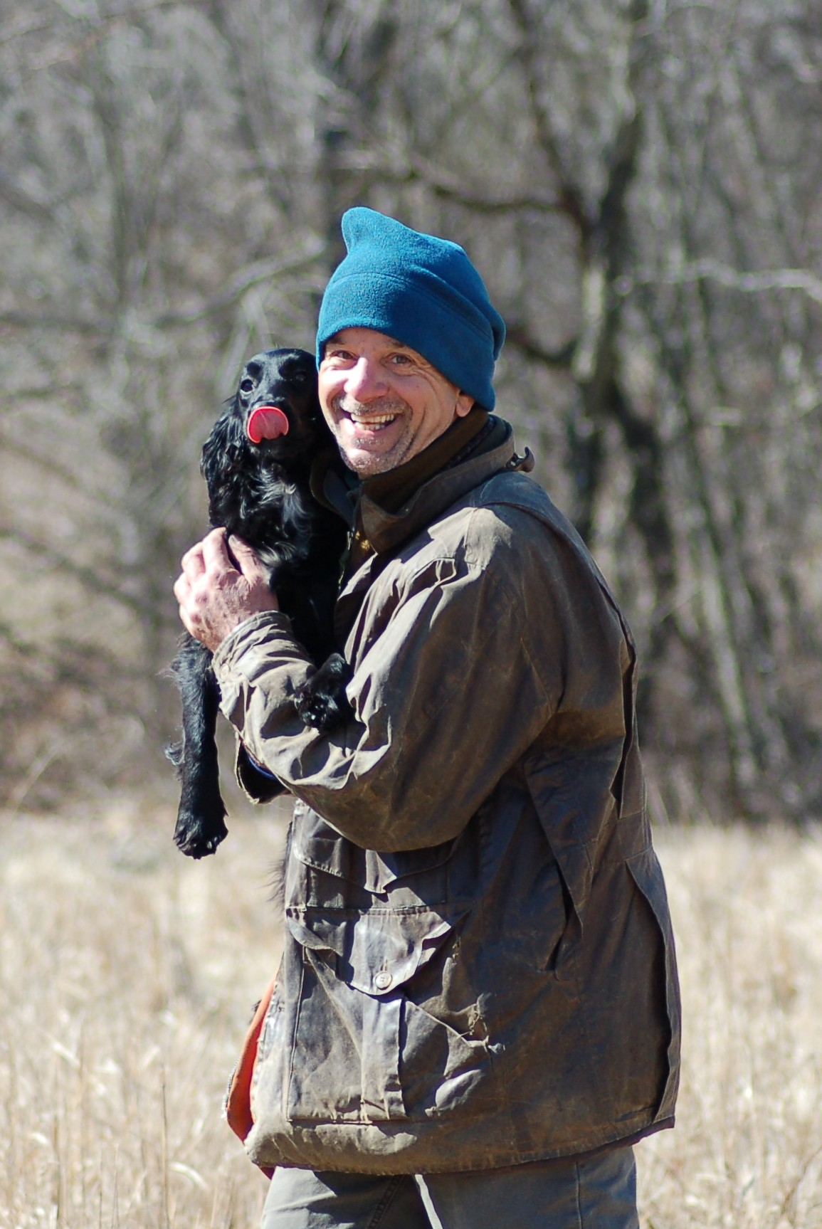 joe holding pup